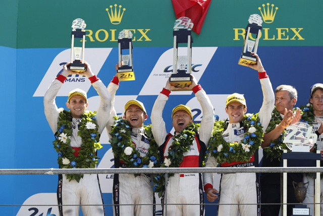 Mouser congratulates Ho-Pin Tung on historic win at Le Mans
